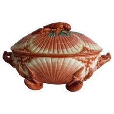 Check out this item at One Kings Lane! Majolica Lobster Tureen