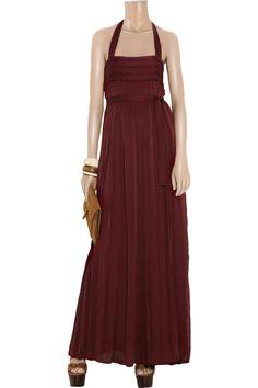 Salita satin halterneck maxi dress by By Malene Birger