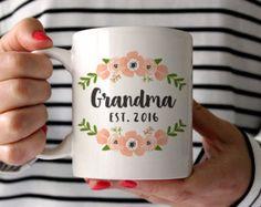 New Grandma Pregnancy Announcement Grandma Coffee Mug by fieldtrip