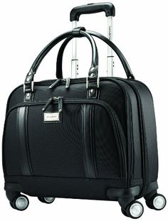 45af73cee51 Amazon.com | Samsonite Luggage Women's Spinner Mobile Office, Black, One  Size | Suitcases
