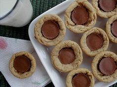 Peanut Butter Cup Cookies.  These only have 2 ingredients, unless you count a glass of milk to go with them.  Thanks @Karen Jacot=^..^=