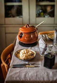 """Receta 847: Gallina en pepitoria » 1080 Fotos del libro """"1080 recetas de cocina"""" de Simone Ortega"""