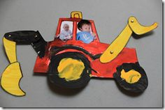 Craft projects on the theme of construction vehicles.