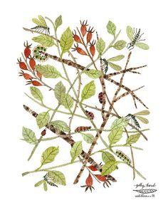 bramble woodland watercolor print by golly bard