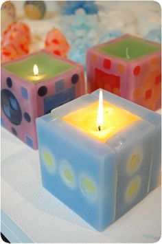 ccc14_MikaShoji Presents For Men, Gifts For Him, Good Morning Images Flowers, Square Candles, Candle Craft, Beautiful Candles, Diy Candles, Creative Crafts, Birthday Candles