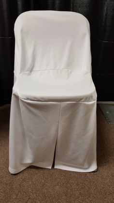 White folding chair cover (displayed on burgundy folding chair) Folding Chair, Burgundy, Chairs, Cover, Folding Stool, Tire Chairs, Chair, Side Chairs, Wine Red Hair