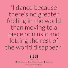 Midweek #DanceQuote ❤ loosing yourself in the music can be the most amazing feeling! #Music #Dance #Passion #BlochEU
