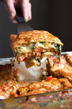 Vegetable lasagna with spinach: Amore Italia - Madame Cuisine - Vegetable lasag. - Vegetable lasagna with spinach: Amore Italia – Madame Cuisine – Vegetable lasagna with spinach - Healthy Food Recipes, Vegetable Recipes, Healthy Snacks, Cooking Recipes, Eating Healthy, Drink Recipes, Fall Recipes, Easy Dinner Recipes, Pasta Recipes