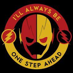 "herochan: ""One Step Ahead Art by Ron Cummings "" Fotos Do Flash, Dc Speedsters, Flash Comics, Marvel Comics, Eobard Thawne, Supergirl Superman, Marvel And Dc Characters, Flash Wallpaper, Reverse Flash"