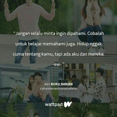 Kang Chul, Quotes Indonesia, Captions, Qoutes, Love Quotes, Poems, Drama, Wattpad, Motivation