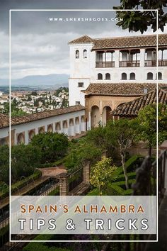 Essential tips and tricks to ensure you get to visit the Alhambra during a trip to Granada, Spain. The fortress and gardens are one of the most popular sights in Andalusia and limited to only 6,600 visitors per day. Click through to find out how to score tickets in advance and the best time to see the sights!
