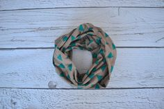 Green Triangles Toddler and Child Infinity Scarf