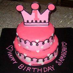 Hot Pink Princess Cake  CustomDesignCatering.com