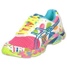 Asics GEL-Noosa Tri 7 Women's Running Shoes| FinishLine.com | NeoNeon Pink/Coral/Noosa Glow
