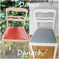 DIY Chair makeover so easy! alter Stuhl mit neuem Aussehen, ganz einfach! #ChairMakeover