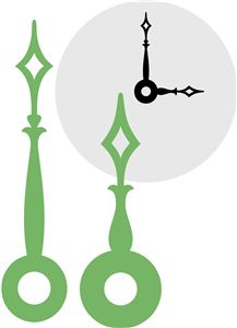 I like the angular design of these clock hands and I think they would look really good on my clock design
