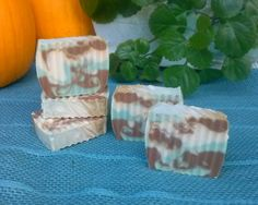 Autumn Breezes ~ A pretty and VERY fall fragranced soap.  Totally handmade from scratch, based with olive oil.
