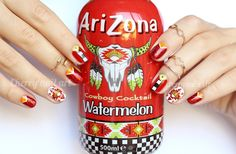 CHERRY NAIL ART - Blog mode et beauté: Nail art Arizona watermelon