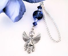 Car Charm  An Angel Charm with Royal Blue and by CarCharmShop, $4.99