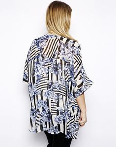 Alice & You Floral Printed Oversized Top
