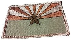 """[Single Count] Custom, Cool & Awesome x Inches} Rectangle Tactical Arizona State Flag (Tactical Type) Velcro Patch """"Brown, Tan & Green"""" mySimple Products Velcro Patches, Sew On Patches, Az State, Arizona State, Velcro Tape, Tactical Bag, Hook And Loop Fastener, Flag Design, Fasteners"""