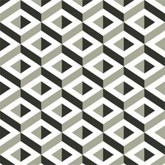 Esher experimented with Tessellation which enabled him to create impossible objects and buildings. Wallpaper Designs For Walls, Home Wallpaper, Geometric Wallpaper, Pattern Wallpaper, Cubes, Black And White Design, Geometric Designs, Optical Illusions, Designer Wallpaper