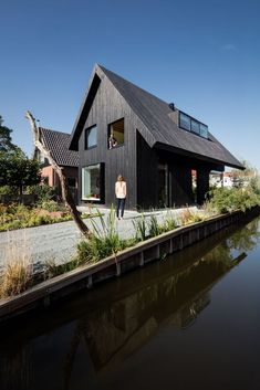 Gallery of House MM / Chris Collaris Architects - 9 Modern Barn House, Modern House Design, Hygge, Amsterdam Houses, Timber Cladding, Home Technology, Prefab Homes, House Goals, Residential Architecture