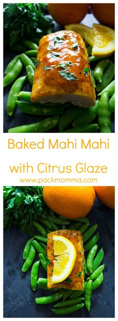 Baked Mahi Mahi with Citrus Glaze | This easy healthy dinner recipe Baked Mahi Mahi with Citrus Glaze is nutritious and delicious! | packmomma.com