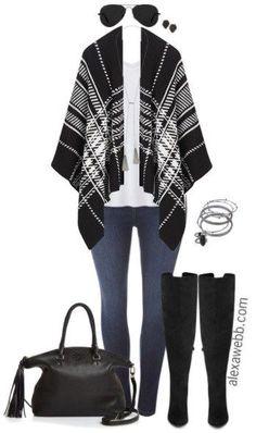 Plus Size Blanket Wrap Outfit - Plus Size Fall Winter Outfit Idea - Plus Size Fashion for Women - alexawebb.com #alexawebb