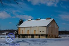 A snow covered barn in Lancaster County.