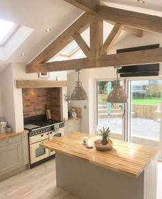 52 Stunning Farmhouse Kitchen Design Ideas - Setting And Living - . - 52 Stunning Farmhouse Kitchen Design Ideas – Setting Up And Living – up - Modern Farmhouse Kitchens, Farmhouse Kitchen Decor, Home Kitchens, Country Kitchens, Farmhouse Ideas, Kitchen Modern, Farmhouse Interior, Country Farmhouse, Cuisines Design
