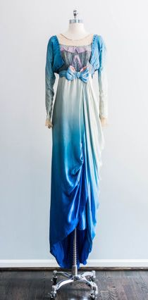 Dress, c. 1910's  is this ombre dye color recently done, as in: is this a modern dye?