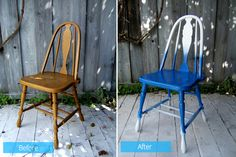 20 Brilliant Before and After Wooden Chair Makeovers                                                                                                                                                                                 More