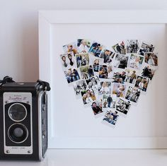 Infamously voted as part of Oprah's 'Favorite Things', the Heart Snapshot Mix by Minted. Available now - http://www.minted.com/product/wall-art-prints/MIN-T53-GCP/heart-snapshot-mix-photo-art