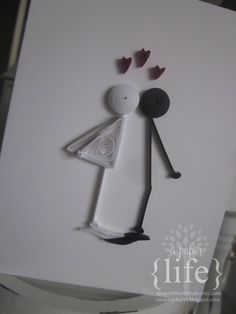 ~ a paper {life}: ~ kissing stick people