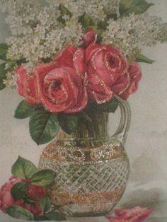 Mixed Bouquet Glitter Plaque