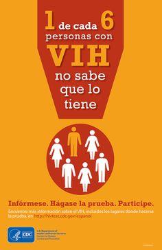 CDC #infographic in Spanish: 1 de cada 6 personas con VIH no sabe que lo tiene