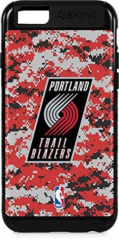 NBA Portland Trail Blazers iPhone 6s Plus Cargo Case - Portland Trailblazers Digi Camo Cargo Case For Your iPhone 6s Plus. Built To Last - Tough iPhone 6s Plus Cargo Case Made With A Double Layer Hard Shell & Rubber Liner Protection. Offically Licensed Portland Trailblazers Case Design. Industry Leading Vivid Color Vinyl Print Technology. Textured Sidewalls - For Added Comfort & Enhanced iPhone 6s Plus Grip. Precision iPhone 6s Plus Fit - Increasing Protection Without Sacrificing Function.