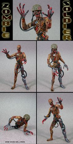 Zombie Soldier custom action figure - John Mallamas