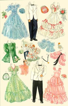 High School  Paper Dolls - Merrill Publishing Co.,1940: Page 5 (of 6)