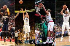 Golden State Warriors & Thunder Oklahoma fueron los grandes ganadores de la primera fecha. 4/17/16.