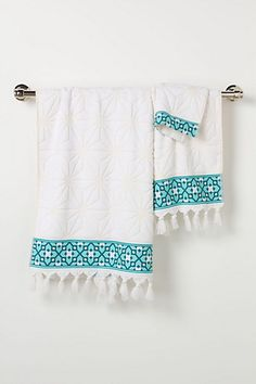 Rimmed Geometry Towels #anthropologie
