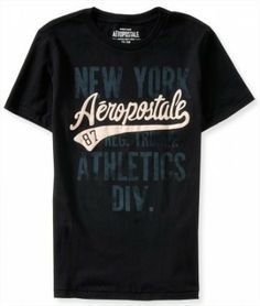 Camiseta Aeropostale Men's New York Athletics Graphic T Black #Camisetas #Aeropostale
