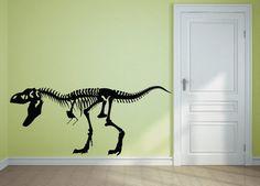 "Kids ""Life Size"" T-Rex - Vinyl Decal (Interior & Exterior Available)  Kids Decor, Boys Dinosaur Room, Large Sticker, Tyrannosaurus Skeleton"