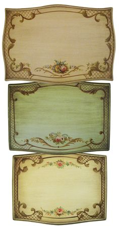 Louis XV Style Hand-Painted Nesting Tables, circa 1940 3 section of information related to.