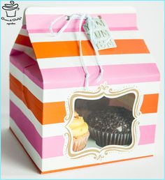 Pink and orange holiday box