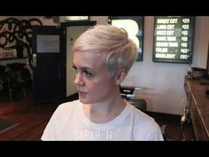 How I Get My Haircut / Michelle Williams Inspired Pixie Cut - YouTube
