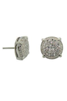 Sterling Silver Zirconia Cluster Stud Earrings - Beyond the Rack