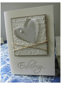 Hand Made Greeting Cards, Greeting Cards Handmade, Making Greeting Cards, Valentines Day Cards Handmade, Wedding Cards Handmade, Wedding Anniversary Cards, Handmade Anniversary Cards, Engagement Cards, Embossed Cards