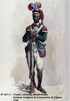 Portuguese Colonial Troops native soldier - Mozambique / Moçambique 1788
